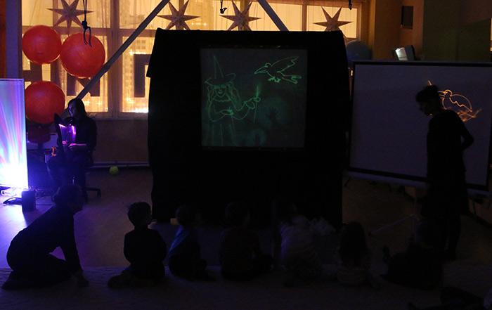 световое шоу, для детей, развитие, воображение, фантазия, рисование, детские занятия