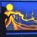 световое шоу, фестиваль, неон, перфомансы, light