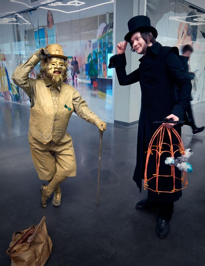 живые скульптуры, шоу, торговый центр
